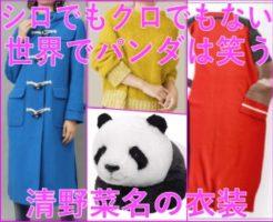 シロでもクロでもない世界でパンダは笑う[衣装]清野菜名のリュックやコート